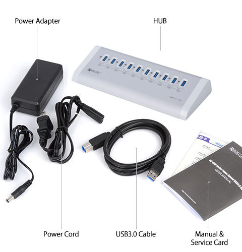 One step add 10x USB3.0 superspeed Ports