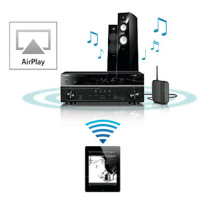 AirPlay® Allows Streaming Music to AV Receiver