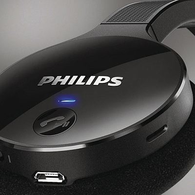 Wireless necklace headphones - Philips SHB4000WT - headset Overview