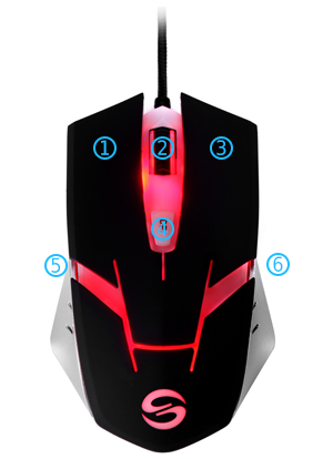 TUtechSmart 4000DPI Precision Optical Gaming Mouse