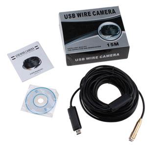 AGPtek GV11-2 15M Waterproof 4-LED USB Endoscope Borescope Snake Tube Inspection Video Camera