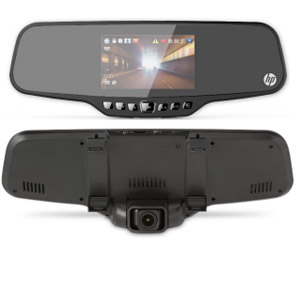 HP F720 Rearview Mirror Mount Dash Camera