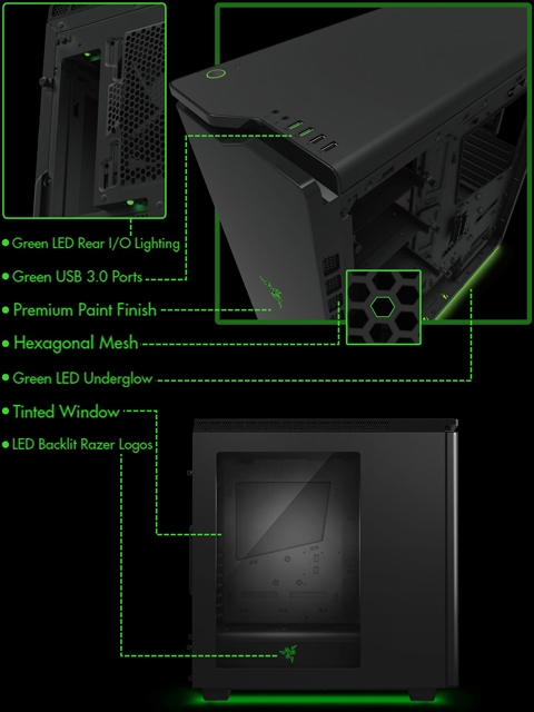 Nzxt h440 razer edition mid tower case review nzxt h440 razer - Nzxt