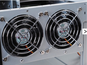 Two 80mm rear fans