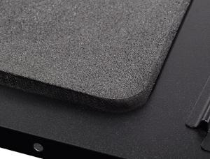 Foam padded side panel for noise absorption