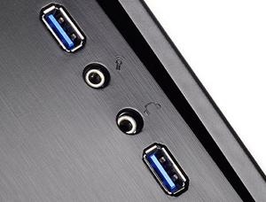 Front I/O ports and USB 3.0 ports