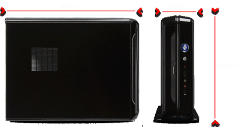 dimensions:435mm L x 104mm W x 355mm H
