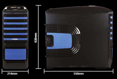 dimensions:550mm L x 214mm W x 520mm H