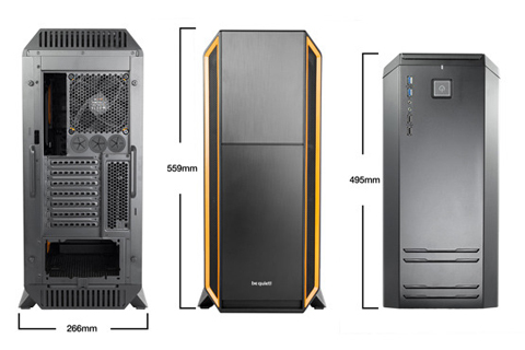 Be Quiet Silent Base 800 Atx Full Tower Pc Case Orange