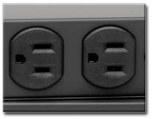 Six Rear-Facing Outlets Power All Equipment
