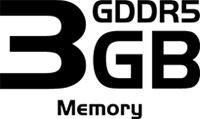 3GB GDDR5 Memory