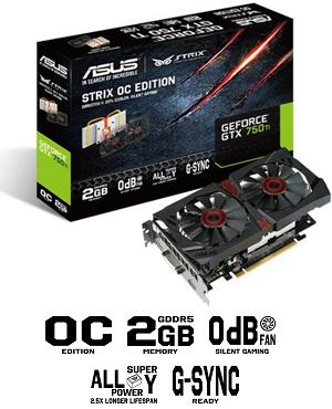 Geforce gtx 750 ti asus strix oc 2gb edition can run pc game.