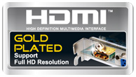 Gold plated HDMI