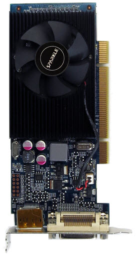 GEFORCE 210 512MB DMS59 PCI Top View