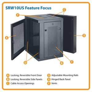Tripp Lite Srw10us 10u Black Server Racks Cabinets
