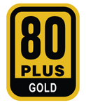 80 Plus Gold Certification for great efficiency