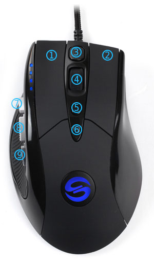 UtechSmart US-D8000-GM High Precision Laser Gaming Mouse