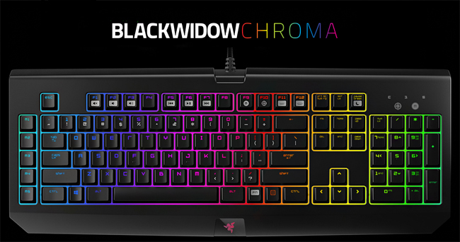 RAZER BlackWidow Chroma Mechanical Gaming Keyboard - Green Switches /  RZ03-01220100-R3M1