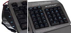 Mad Catz S.T.R.I.K.E. 7 Gaming Keyboard for PC - Function Strip and Modular NumPad