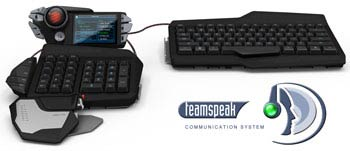 Mad Catz S.T.R.I.K.E. 7 Gaming Keyboard - Integrated TeamSpeak Functionality