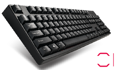 Cherry MX Black Switches provide a fast response and tactile feel, which  makes typing and gaming a more rewarding experience.