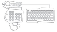 Mad Catz S.T.R.I.K.E. 5 Gaming Keyboard for PC - Modular Configuration B