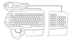 Mad Catz S.T.R.I.K.E. 5 Gaming Keyboard for PC - Modular Configuration D
