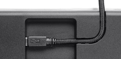 Detachable, braided cloth USB cable with cable management