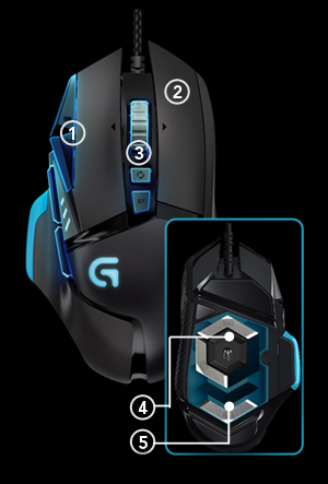 Logitech G502 Proteus Core Gaming Mouse In Pakistan