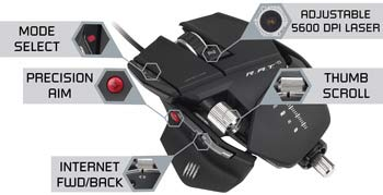Mad Catz R.A.T. 5 Gaming Mouse - Take Control of Your Games
