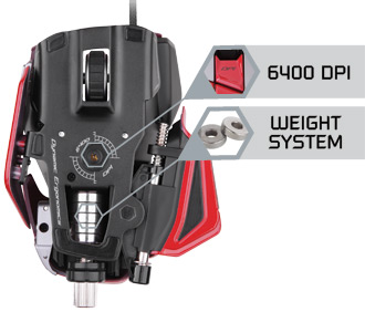 Mad Catz M.M.O. 7 Gaming Mouse - True 6400 DPI 'Twin-Eye' Laser Sensor with 4 Custom Settings