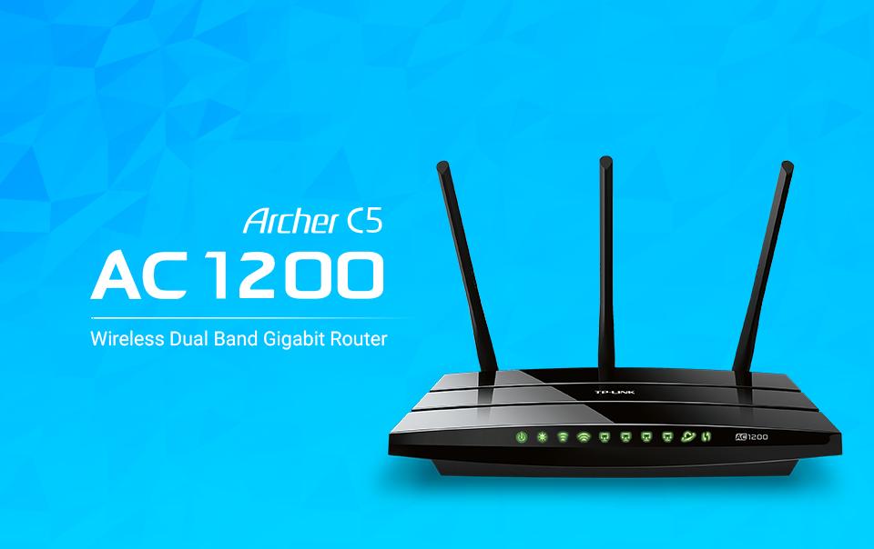 tp link archer c5 ac1200 dual band wireless ac gigabit ro. Black Bedroom Furniture Sets. Home Design Ideas