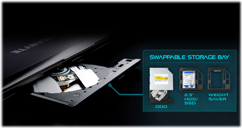 Outstanding Flexibility: Hot Swappable ODD/HDD Slot