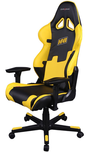 dxracer racing series oh re21 ny navi black yellow office chair