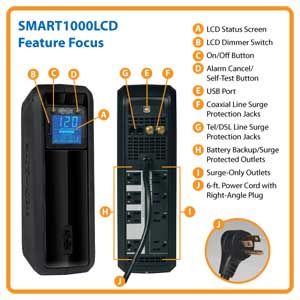 SMART1000LCD Feature Focus