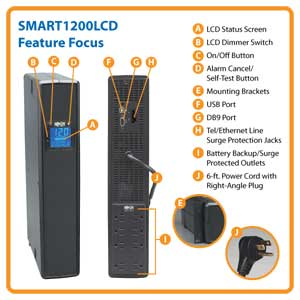 SMART1200LCD Feature Focus