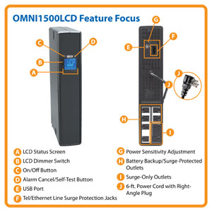 OMNI1500LCD-U Feature Focus