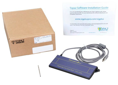 Topaz T-S261 Model Series SignatureGem 1x5 Signature Capture Pad
