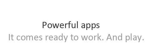 Title of rich apps