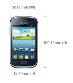 The dimensions of the phone
