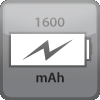 Charge of 1600mAh
