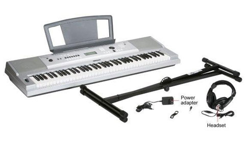 Yamaha DGX-230 76-Key Personal Keyboard with AC Adapter, Stand and Headphone