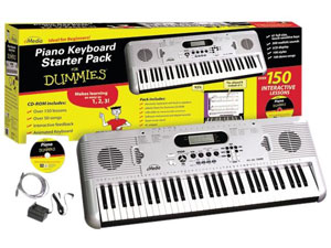 eMedia FD05107 Piano For Dummies 61-Key Keyboard Starter Pack