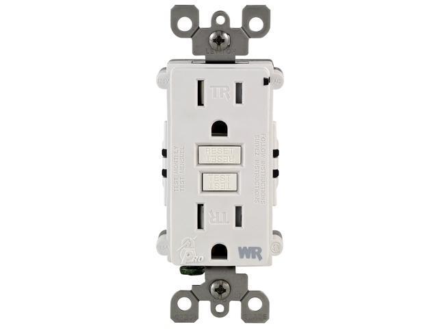 Leviton 012-W7599-TRW 15 Amp White Tamper Resistant GFCI Receptacle ...