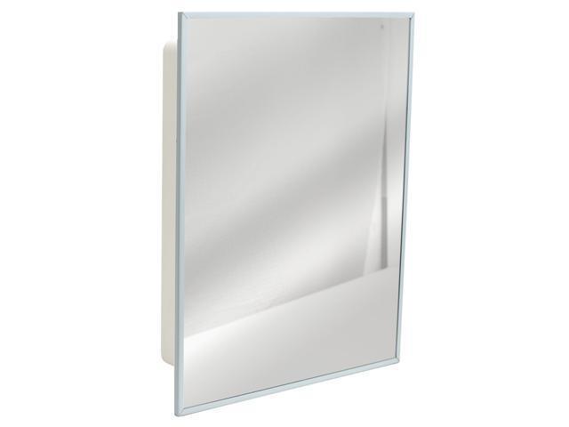"Illumine Dual Stainless Steel Medicine Cabinet With Lighted Mirror: Zenith X4311 16"" X 20"" Stainless Steel & Mirror Medicine"