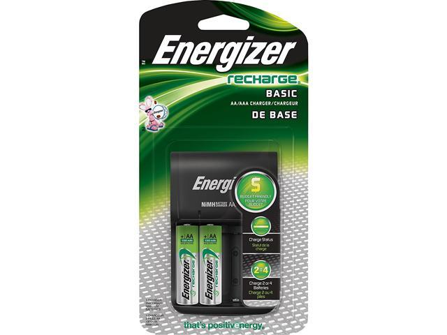 Energizer CHVCWB2 2 Pack AA Rechargeable Batteries Charger Kit