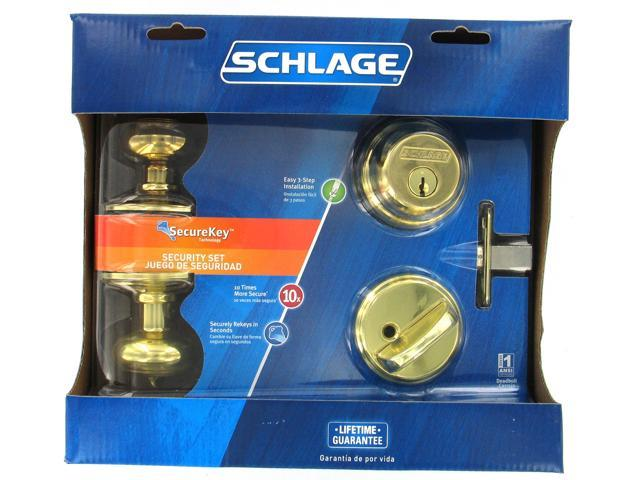 Schlage Fb50vgeo505 Bright Brass Two Point Locking