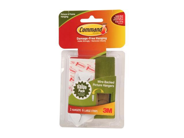 3m Command 17043 Wire Backed Picture Hanging Hooks Value Pack White