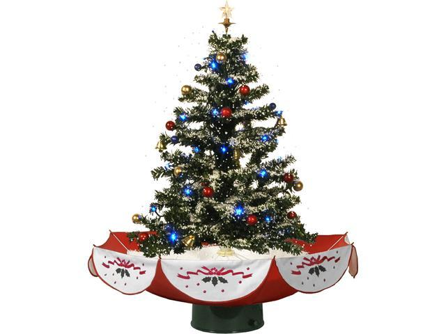 "Fraser Hill Farm 29"" Snowing Musical Christmas Tree With"