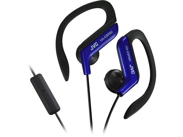 92521bfe261 JVC HA-EBR80 Sport Ear Clip In-Ear Headphone - Blue - HAEBR80A ...